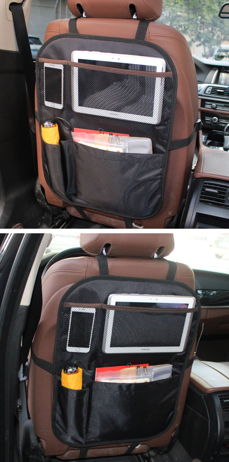 Auto Organizer Tablet Multi Pocket Car Storage Organizer For Kid Auto Backseat Kick Mat Protector Universal Car Back Seat Organizer With Tablet Holder Buy Universal Car