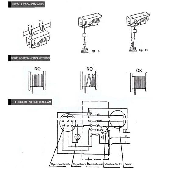 Pa Type Mini Electric Hoist Crane 12v Wih 100kg 200m - Buy Mini