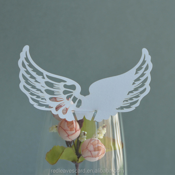 Cheap Wing Shaped Wedding Birthday Decoration Place Cards For Wine - buy place cards