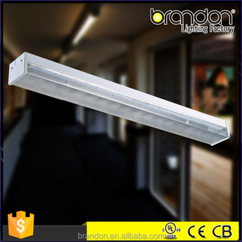 2x36w Fluorescent Fittings With Diffuser Wire Guard For Fluorescent