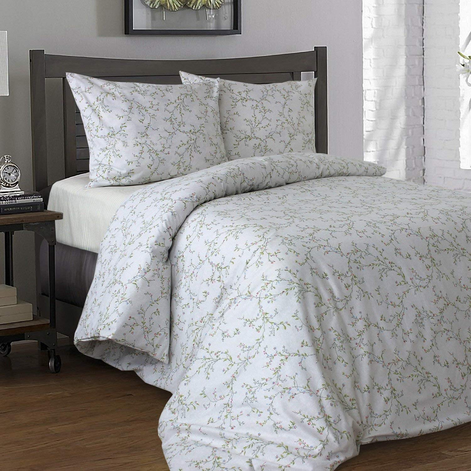 Deep Fitted Sheets Queen Size Buy Likeahome Floral Cotton Duvet Cover Set Fitted Sheet 15