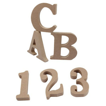 26 English Letters Arabic Numerals Log Color Home Decoration Wooden