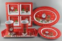 Melamine Christmas Dinnerware Plastic Xmas Tableware - Buy ...