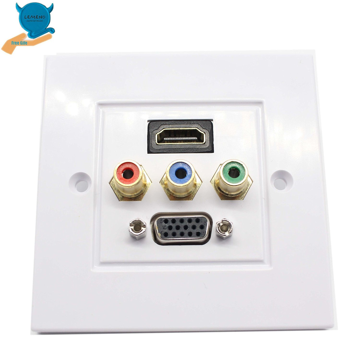 Hdmi Outlet Buy Lemeng Hdmi Vga 3rca Av Wall Plate Composite Video Audio