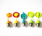 Best Selling Quality colorful silione head stainless steel bottom tea ball tea strainer