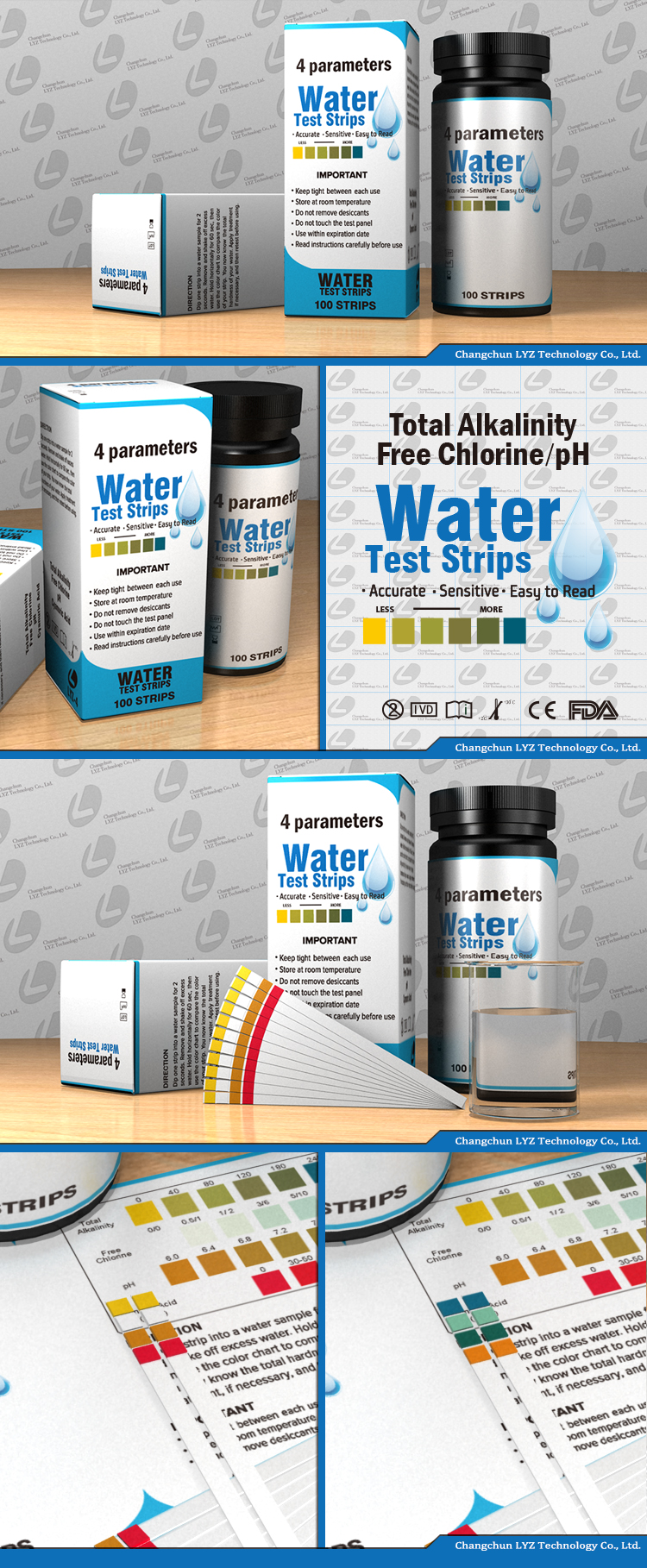 Zwembad Water Ph 4 In 1 Zwembad Water Teststrips Ph Gratis Chloor Broom Totale Alkaliteit Buy Zwembad Teststrips Water Teststrips Zwembad Test Kit Product On