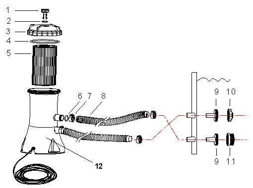 intex pool pump setup diagram