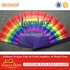 Rainbow Theme Full Color Print Custom Plastic Hand Fans