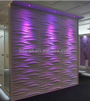 Buy 3d Wallpaper Panels Wave Design Plant Fiber 3d Wall Panel For Home Decor Buy