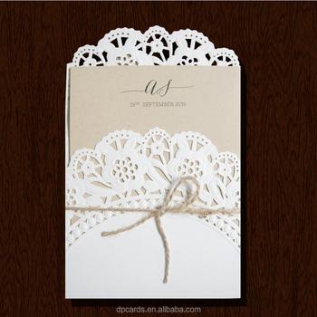 Wholesale Die Cut Invitation Cards Models,Rustic Wedding Invitation