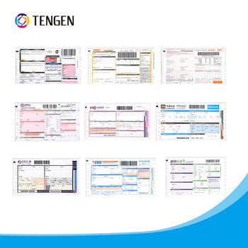 Multi-colour Consignment Note Printing With Barcode For Express
