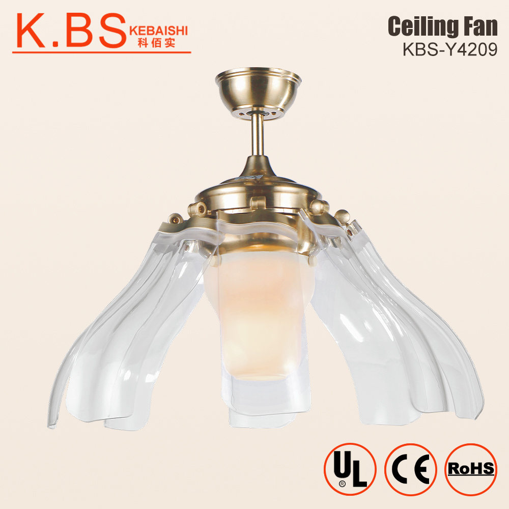Ceiling Fan With Folding Blades Electric Fancy Folding Blades Acrylic Lampshade Remote Control Invisible Ceiling Fan With Light Buy Electric Ceiling Fan Folding Blades Ceiling