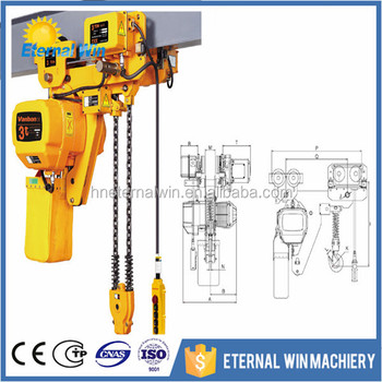Manufacturer Remote Control Mini 1 Ton 2 Ton 5 Ton Electric Chain