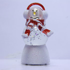 Acrylic Color Changing Water Gobe Snowman Christmas Xmas Craft Decoration