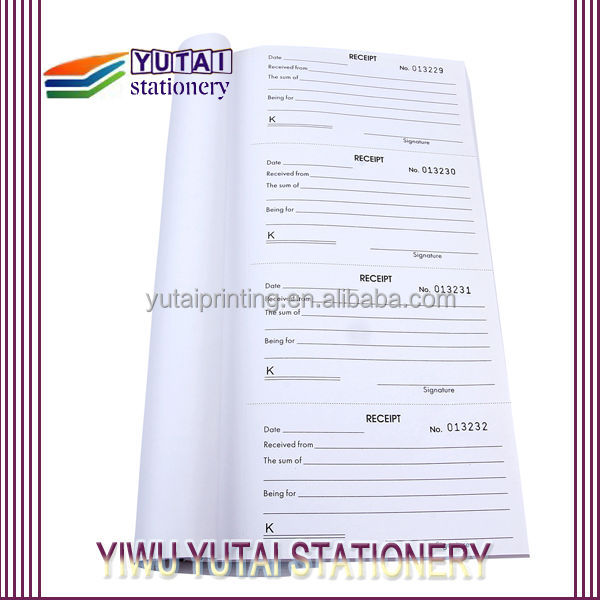 China Sales Receipt Books, China Sales Receipt Books Manufacturers