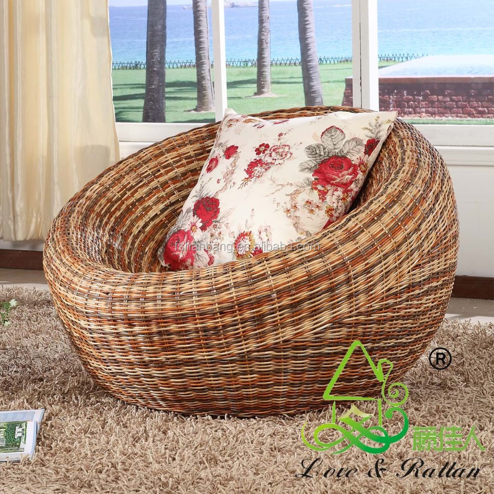 Rattan Rundsessel Super Comfortable Living Room Rattan Papasan Chair With