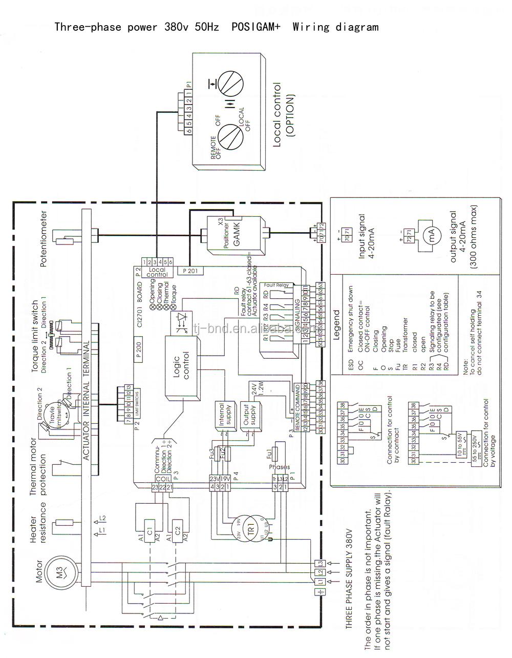 bernard actuator wiring diagram