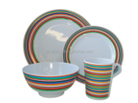 Foodgrade And Bpa Free Melamine Colorful Dinnerware Sets ...