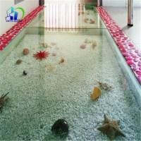 Suelos de piso de baldosas de vidrio laminado decorativo ...