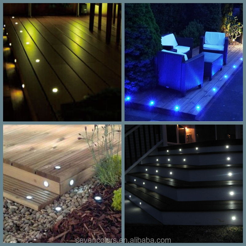 Outdoor Patio Lighting Installation Buried In Concrete Driveway - Dek Dots Led Deck Lights