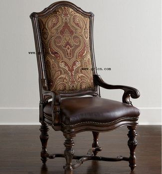 High Quality American Style High Back Brown Leather Seat