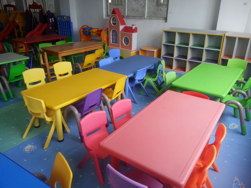 Ce Approved Preschool Plastic Children Table And Chair