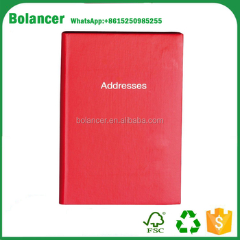 A7 Small Mini Red Hard Back Pocket Telephone  Address Index Book
