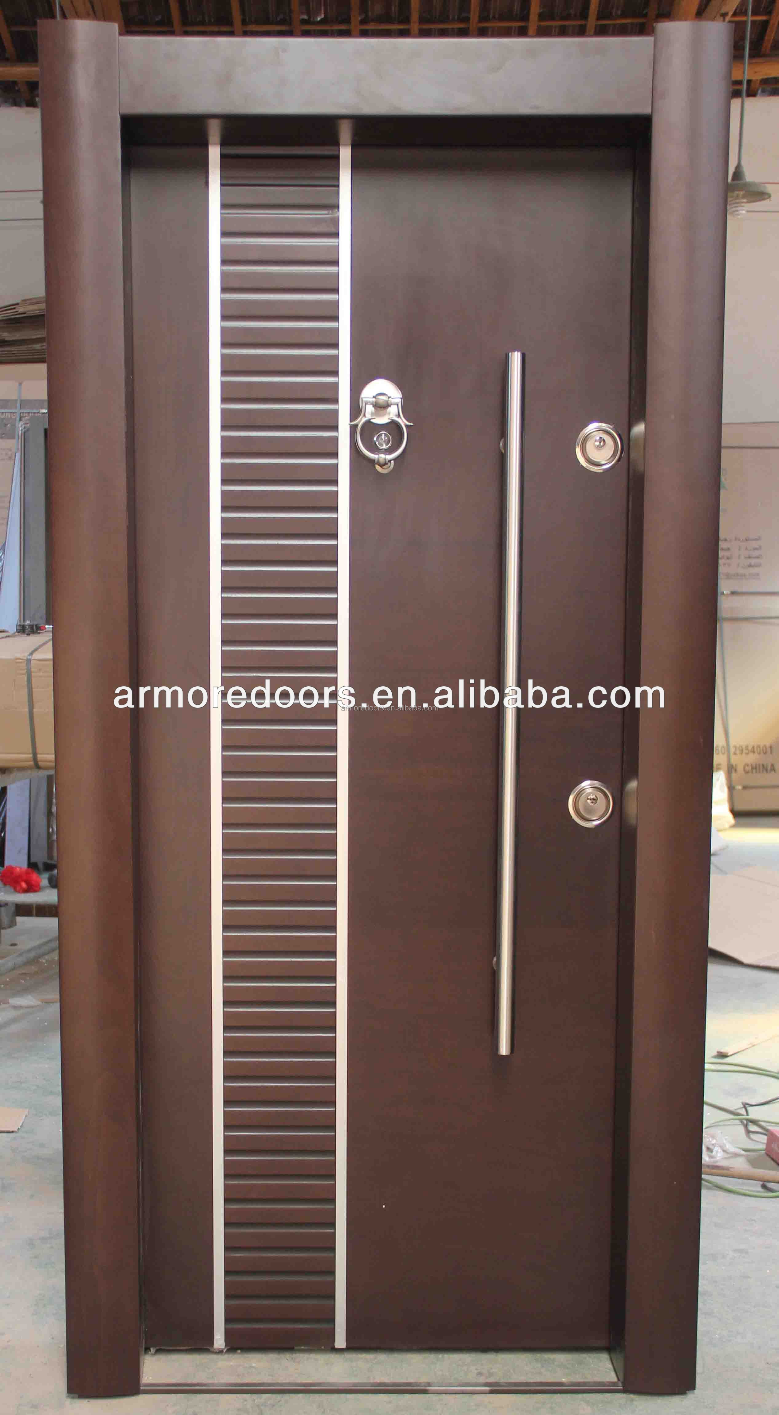 Latest Wooden Door Designs 2017 Armored Door And Interior Door Swing Metal Armored