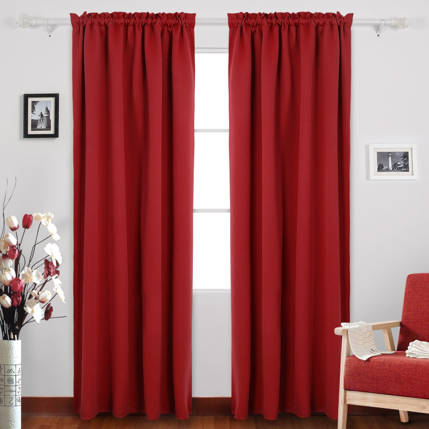 36 Inch Room Darkening Curtains Cheap Long Red Curtains Find Long Red Curtains Deals On Line At