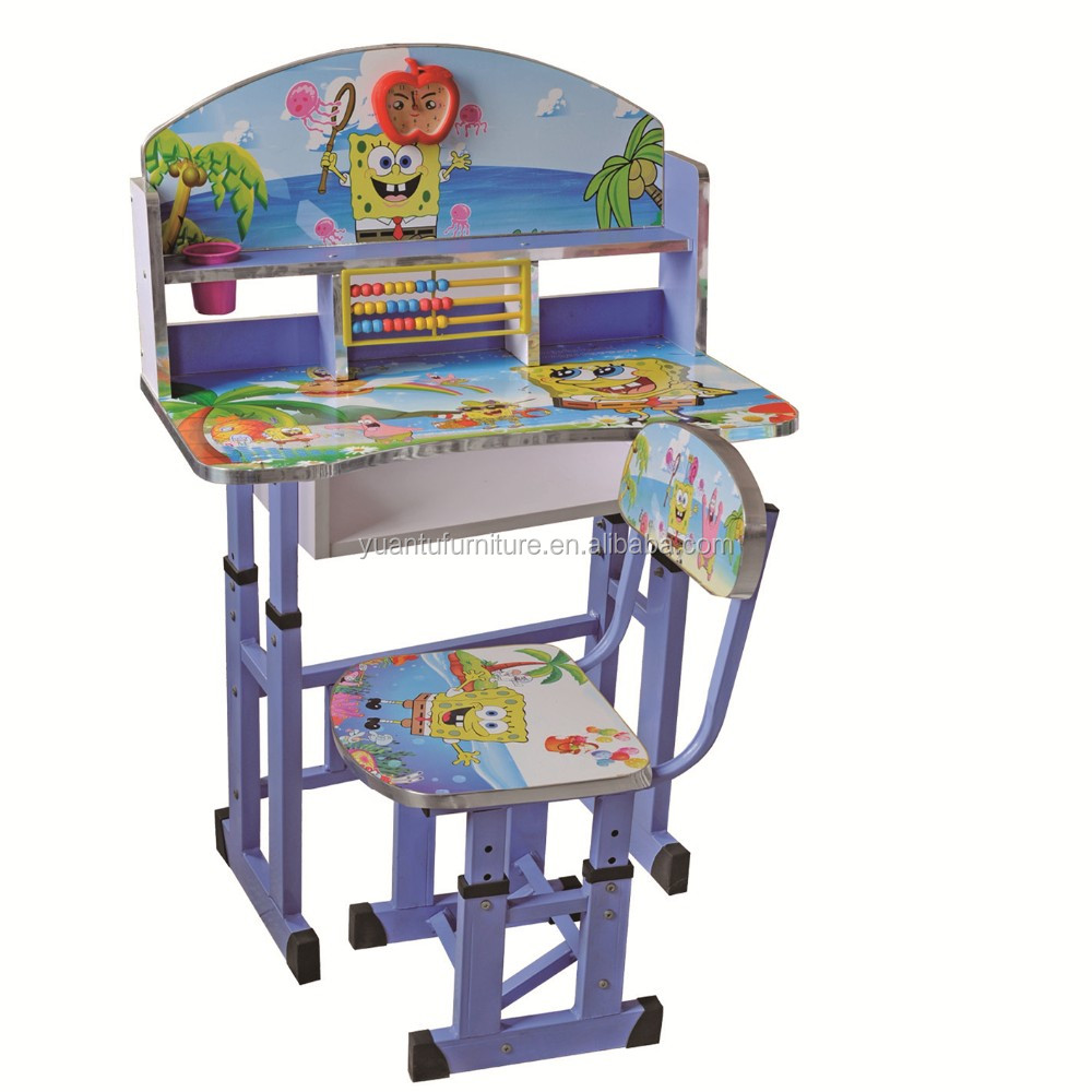Cheap factory price children study table and chair set kids study table and chair set