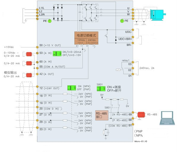 danfoss vfd wiring diagram