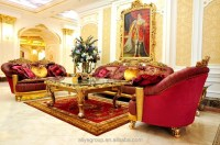 Baroque Sofa Set Luxury French Baroque Bright Color Living ...