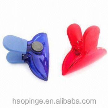 Plastic Clip With Strong Magnet On The Back,Round Shaped Plastic