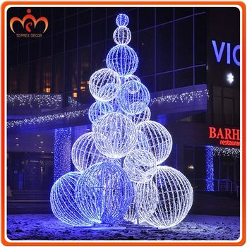 Giant Outdoor Led Christmas Ball Tree - Buy Christmas Ball Tree - outdoor led christmas decorations