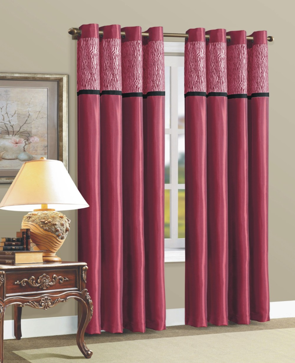 Faux Silk Curtains 1pc Faux Silk Solid Panel Curtains Designs With 8 Grommets Living Room Curtains Buy Living Room Curtains Silk Curtains Curtain Silk Product On