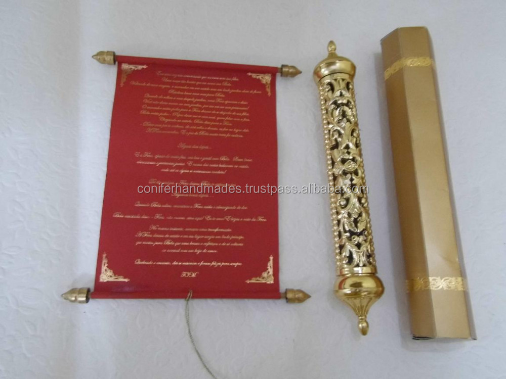 Royal Scroll Wedding Invitations With Engraved Gold Boxes For - scroll wedding invite