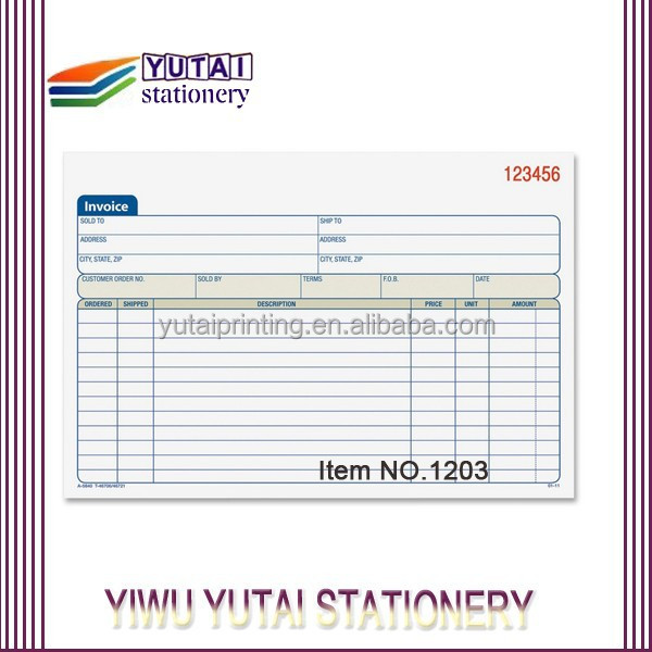 Vista Print Invoice Books, Vista Print Invoice Books Suppliers and - print invoice