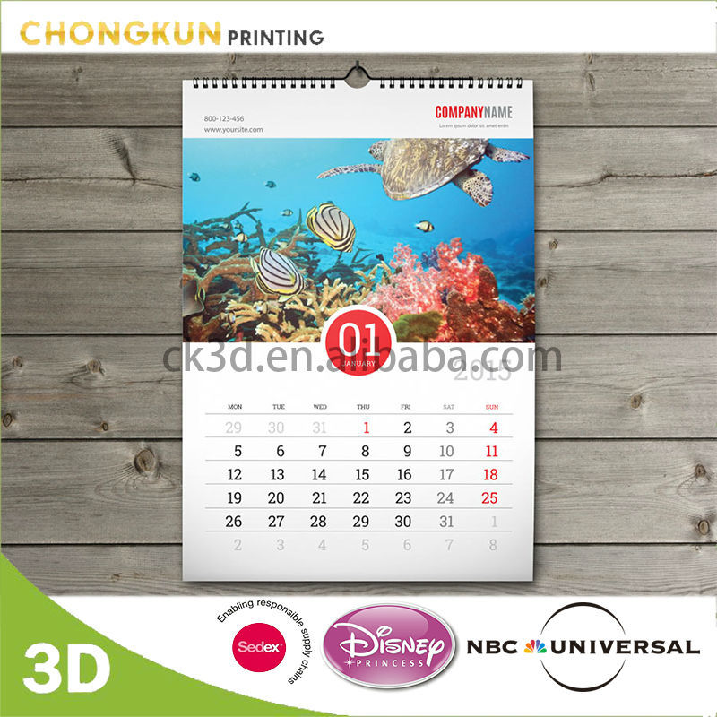 Wall Calendar, Wall Calendar Suppliers and Manufacturers at Alibaba