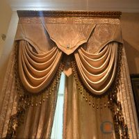 Luxury Yellow Red And Gray Turkish Style Curtains - Buy ...