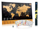 Travel Inspired Scratch Wanderlust Poster Map with 229 Travel Stickers AMA-10