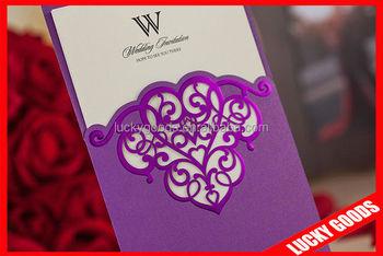 Cheap Good Looking Wedding Invitation Card Plastic