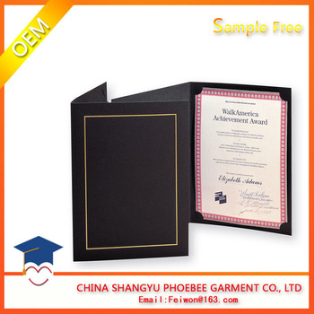 2017 New Diploma Holder A5 Size Leather Paper Graduation Certificate - Graduation Certificate Paper