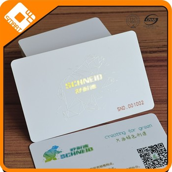 China Supplier Plastic Cards Pvc Business Card Printing With Qr Code