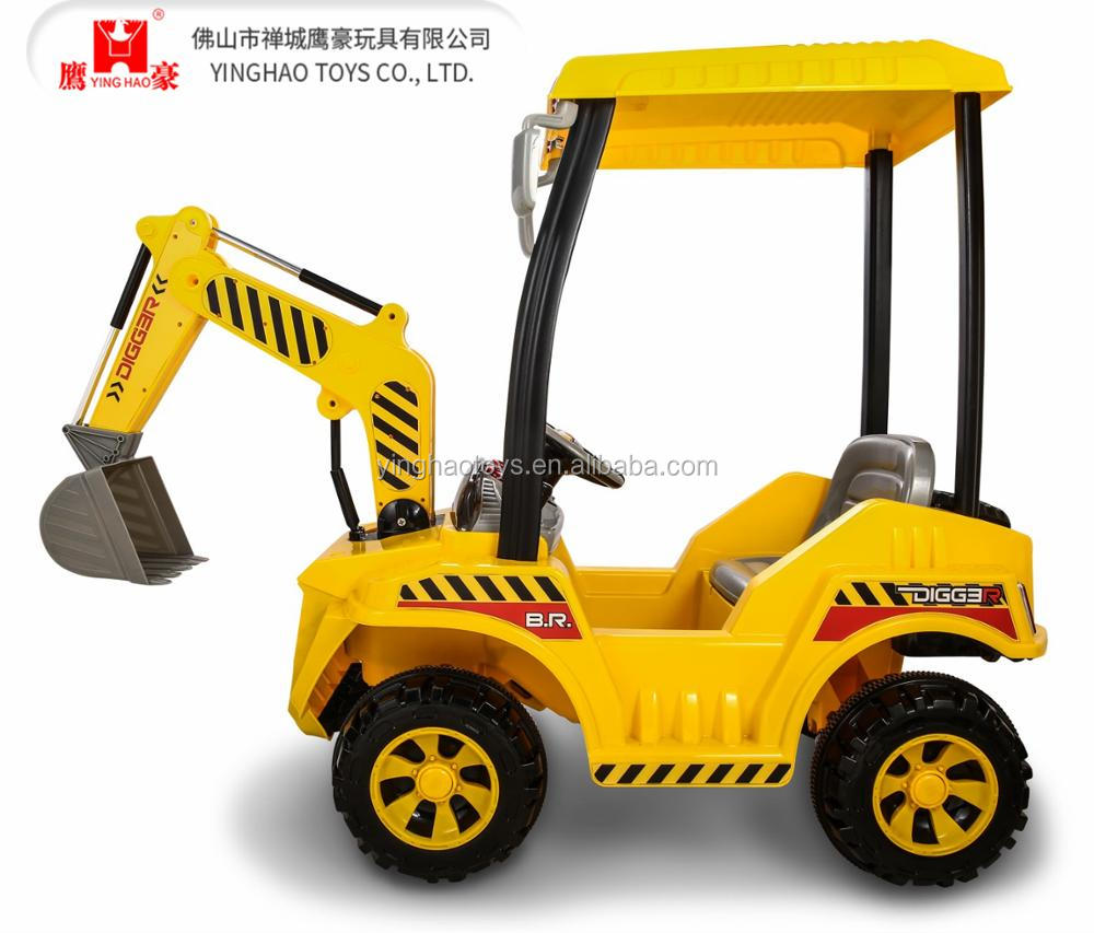 Digger Toy 4 Wheels Battery Operated Engineer Ride On Digger Toy Car For Kis To Drive With Fun Buy Ride On Car Remote Control Kids Toy Excavator Truck Toy