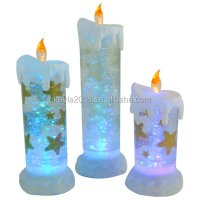 LED Glitzer-Wirbel, leuchtende LED Kerze mit sanftem ...