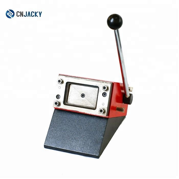 Business Card Cutter Round 86*54mm Manual Heavy Duty Pvc Right Angle