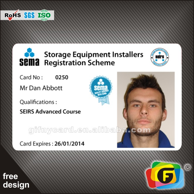 Professional Sample Employee Id Cards With Barcode With Plastic Card - sample id cards