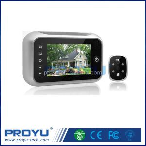 High quality Night vision function silver Digital Door Peephole Viewer