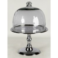 Wedding Cake Stand,Silver Cake Holder With Lid,Metal Cake ...
