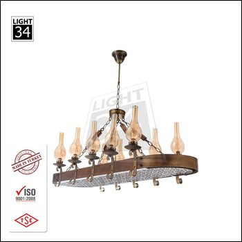 Oriental Hanging Light Wooden Pendant Lamp Decorative